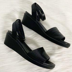 CROCS Shoes - Crocs   Leigh-ann Ankle Strap Leather Wedge Sandal